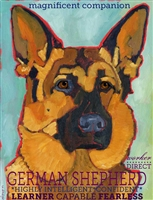 German Shepherd Artistic Fridge Magnet SaltyPaws.com