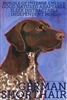 German Shorthaired Pointer Artistic Fridge Magnet SaltyPaws.com