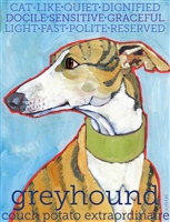 Greyhound Brindle Artistic Fridge Magnet SaltyPaws.com