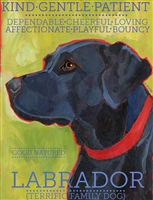 Labrador Retriever Black Artistic Fridge Magnet SaltyPaws.com