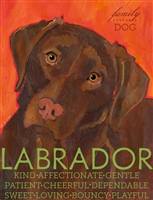 Labrador Retriever Chocolate Artistic Fridge Magnet SaltyPaws.com