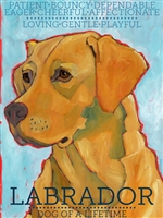 Labrador Retriever Yellow Artistic Fridge Magnet SaltyPaws.com
