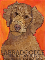 Labradooodle Chocolate Artistic Fridge Magnet SaltyPaws.com