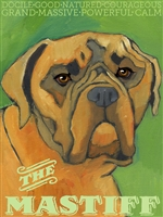 English Mastiff Artistic Fridge Magnet SaltyPaws.com