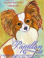Papillon Artistic Fridge Magnet SaltyPaws.com