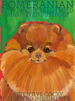 Pomeranian Red Artistic Fridge Magnet SaltyPaws.com
