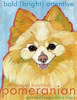Pomeranian Cream Artistic Fridge Magnet SaltyPaws.com