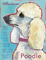 Poodle White Artistic Fridge Magnet SaltyPaws.com