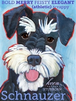 Schnauzer Black Artistic Fridge Magnet SaltyPaws.com