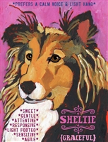 Shetland Sheepdog Artistic Fridge Magnet SaltyPaws.com