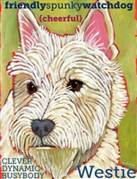 West Highland Terrier Artistic Fridge Magnet SaltyPaws.com