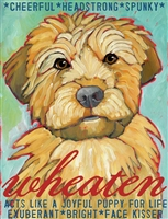 Wheaten Terrier Artistic Fridge Magnet SaltyPaws.com