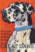 Great Dane Uncroped Harlequin Fridge Magnet SaltyPaws.com