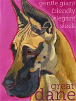Great Dane Croped Fawn Fridge Magnet SaltyPaws.com