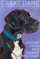 Great Dane Uncroped Black And White Fridge Magnet SaltyPaws.com