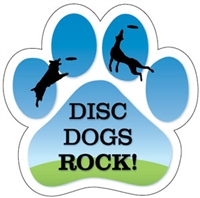 Disc Dogs Rock Dog Paw Magnet for Car or Fridge