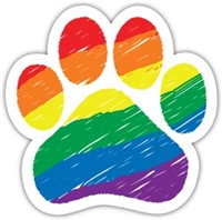 Rainbow Paw Magnet for Car or Fridge