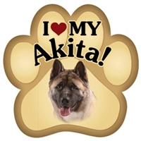 Akita Paw Magnet for Car or Fridge