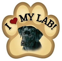 Black Lab Paw Magnet for Car or Fridge