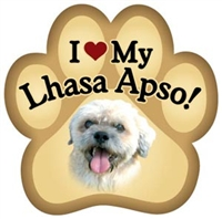Lhasa Apso Paw Magnet for Car or Fridge