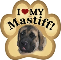 English Mastiff Paw Magnet for Car or Fridge
