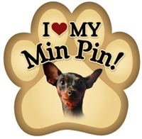 Miniature Pincher Paw Magnet for Car or Fridge