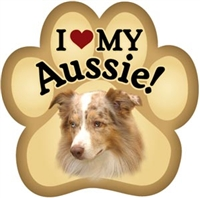 Australian Shepherd Paw Magnet for Car or Fridge