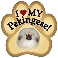 Pekingese Paw Magnet for Car or Fridge