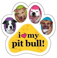 Pitbull Paw Magnet for Car or Fridge