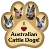Australian Cattle Dog Paw Magnet for Car or Fridge