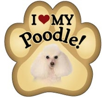 Poodle Paw Magnet for Car or Fridge