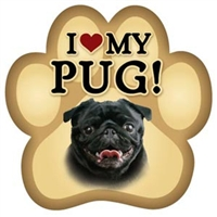 Pug Paw Magnet for Car or Fridge
