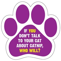 Catnip Paw Magnet for Car or Fridge