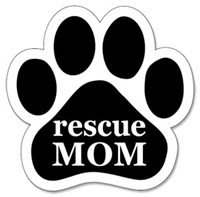 Rescue Mom Paw Magnet for Car or Fridge