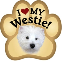 Westie Paw Magnet for Car or Fridge
