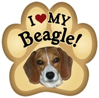 Beagle Paw Magnet for Car or Fridge