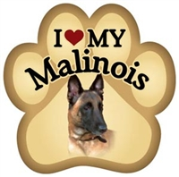 Belgian Malinois Paw Magnet for Car or Fridge