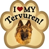 Belgian Tervuren Paw Magnet for Car or Fridge