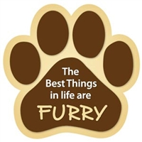 Best Things In Life Dog Paw Magnet for Car or Fridge