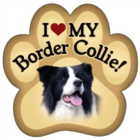 Border Collie Paw Magnet for Car or Fridge