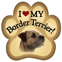 Border Terrier Paw Magnet for Car or Fridge