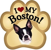 Boston Terrier Paw Magnet for Car or Fridge