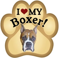 Boxer Paw Magnet for Car or Fridge