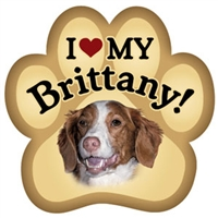 Brittany Paw Magnet for Car or Fridge