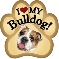 Bulldog Paw Magnet for Car or Fridge
