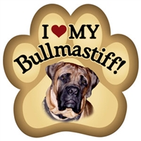 Bullmastiff Paw Magnet for Car or Fridge