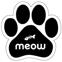 Meow Paw Magnet for Car or Fridge