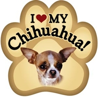 Chihuahua Paw Magnet for Car or Fridge