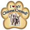 Chinese Crested Paw Magnet for Car or Fridge