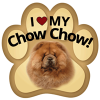 Chow Paw Magnet for Car or Fridge